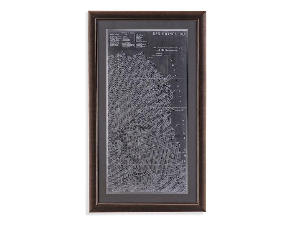 Bassett Mirror Belgian LuxeGraphic Map of San Francisco