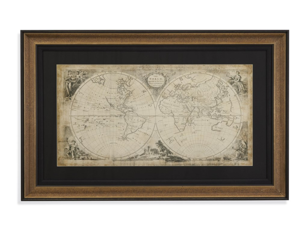 Bassett Mirror Belgian LuxeWorld Discoveries Map
