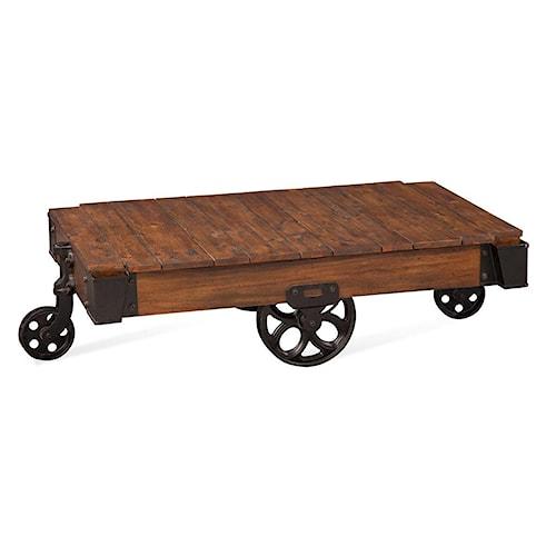 Bassett Mirror Belgian Luxe Factory Cart Table