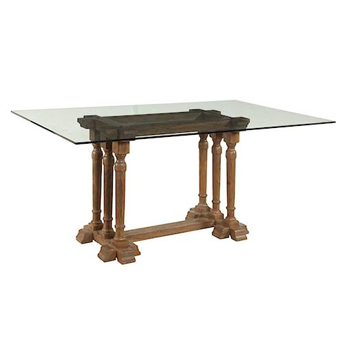 Bassett Mirror Belgian Luxe Pemberton Rect Dining Table