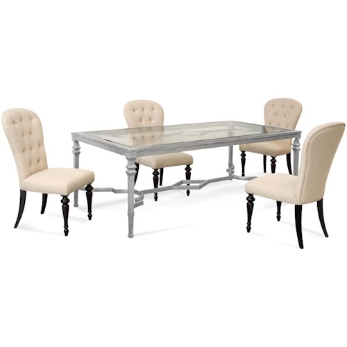 Bassett Mirror Hollywood Glam Sylvia Casual Dining Set