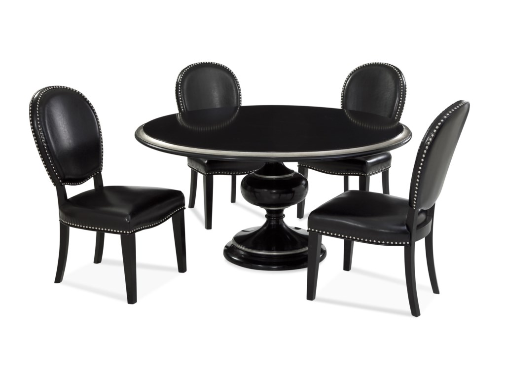 Bassett Mirror Hollywood GlamCovington Casual Dining Set