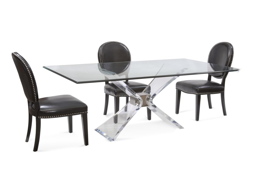 Bassett Mirror Hollywood GlamSilven Casual Dining Set