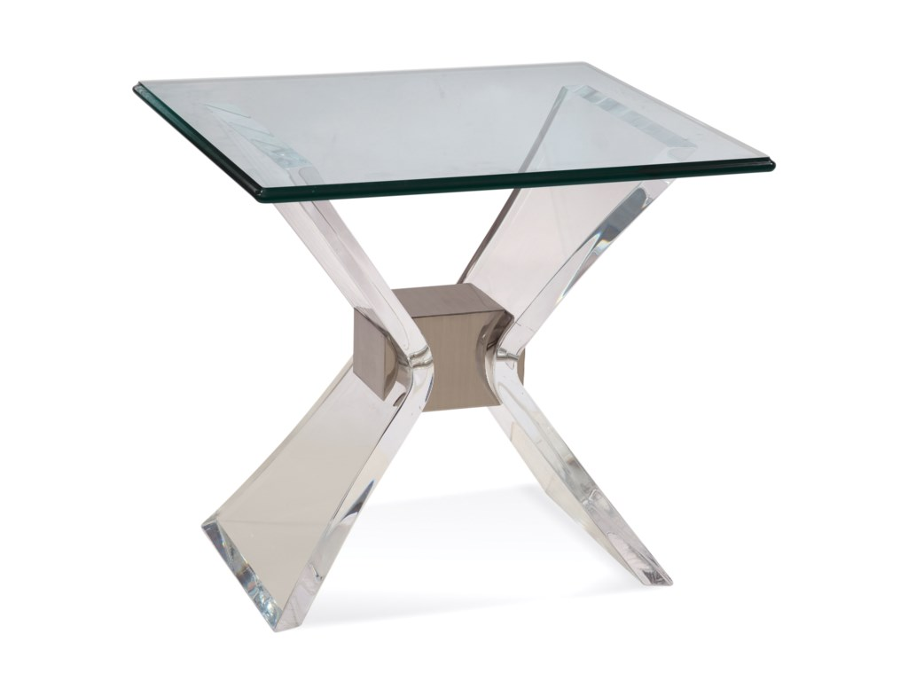 Bassett Mirror Hollywood GlamSilven Rectangle End Table