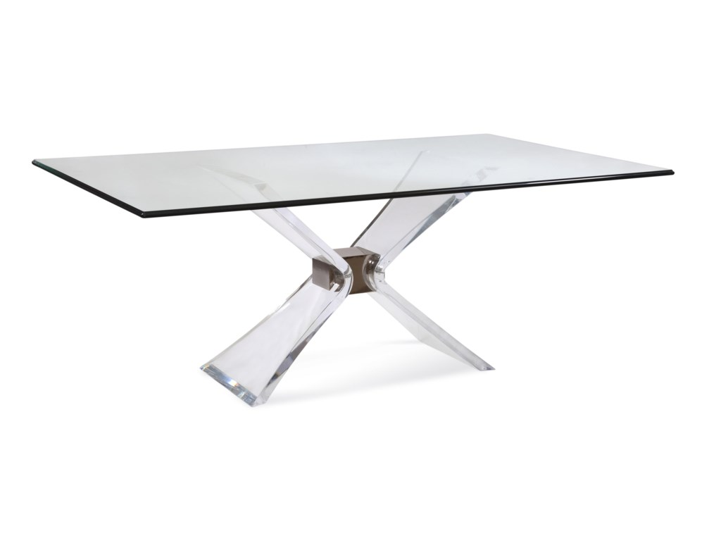 Bassett Mirror Hollywood GlamSilven Rectangle Dining Table