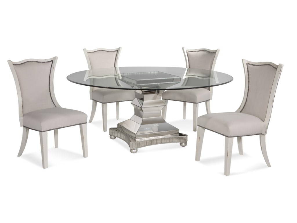 Bassett Mirror Hollywood GlamMoiselle Casual Dining Set