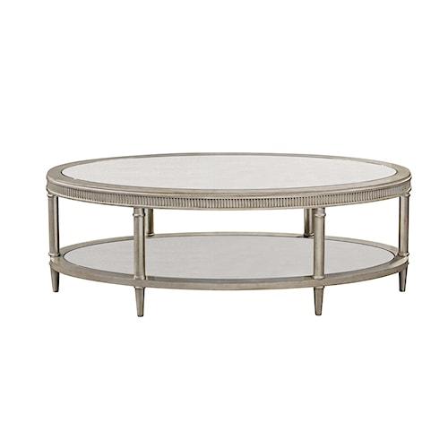 Bassett Mirror Hollywood Glam Vanesta Oval Cocktail Table