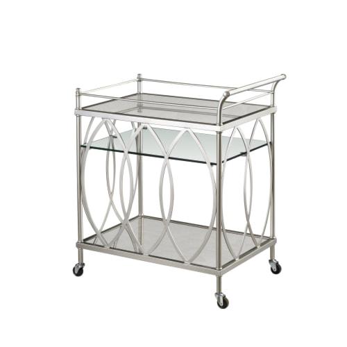 Bassett mirror hollywood glam vanesta bar cart j j furniture bar serving carts mobile - Dining room serving carts ...