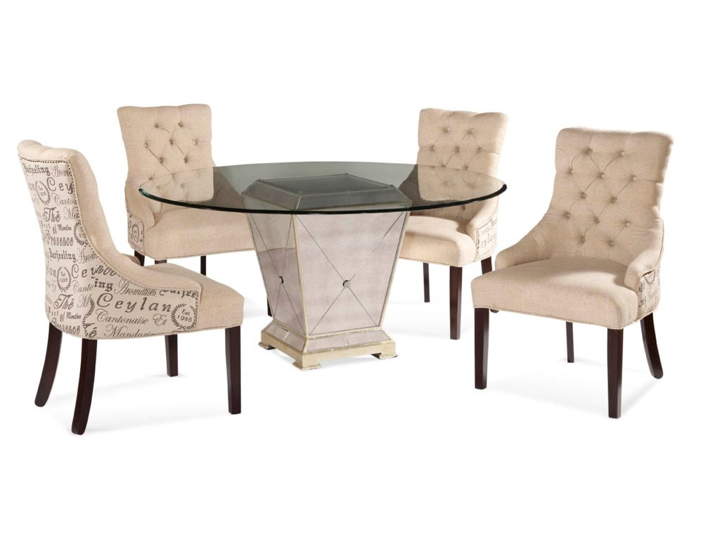 Bassett Mirror Hollywood GlamBorghese Casual Dining Set