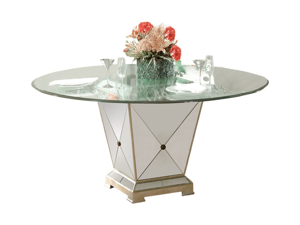 Bassett Mirror Hollywood GlamBorghese Dining Pedestal Table