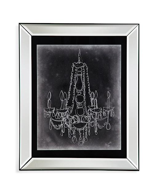 Bassett Mirror Hollywood Glam Chalkboard Chandelier Sketch I