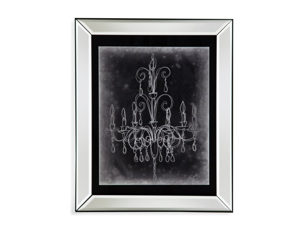 Bassett Mirror Hollywood GlamChalkboard Chandelier Sketch II