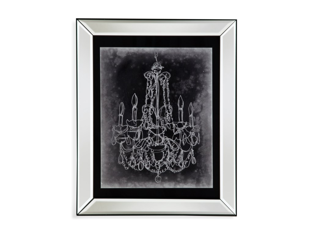 Bassett Mirror Hollywood GlamChalkboard Chandelier Sketch III