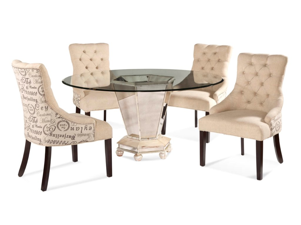 Bassett Mirror Hollywood GlamReflections Casual Dining Set