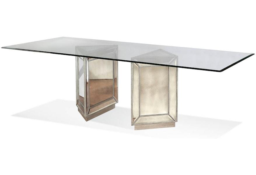 Bassett Mirror Hollywood Glam Murano Dining Table Jacksonville Furniture Mart Kitchen Tables