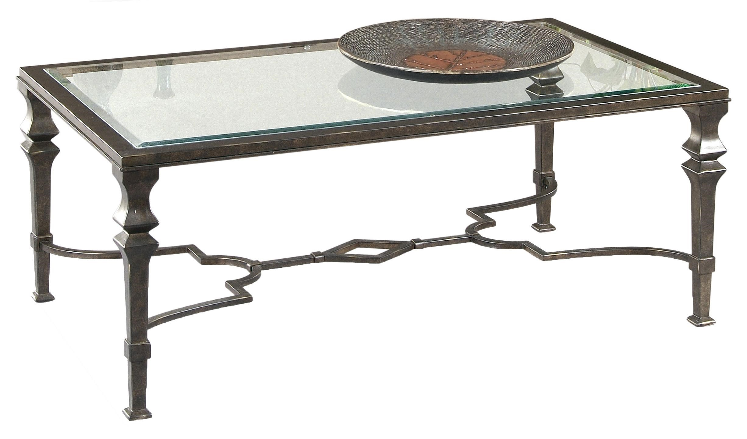 Bassett Mirror Lido Rectangular Cocktail Table   Darvin Furniture    Cocktail Or Coffee Table