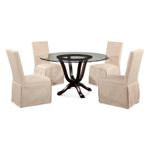 Bassett Mirror Old World Serenity Casual Dining Set Dream Home Furniture Dining 5 Piece Set