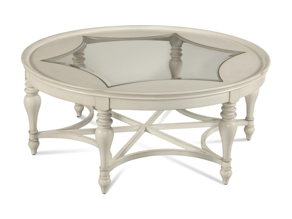Bassett Mirror Pan PacificSanibel Round Cocktail Table