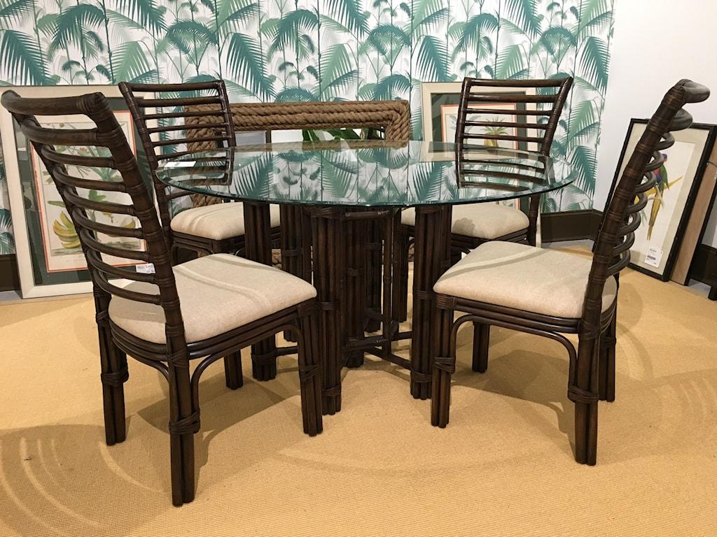 Bassett Mirror Pan Pacific Logan Dining Table - Hudson\'s Furniture ...