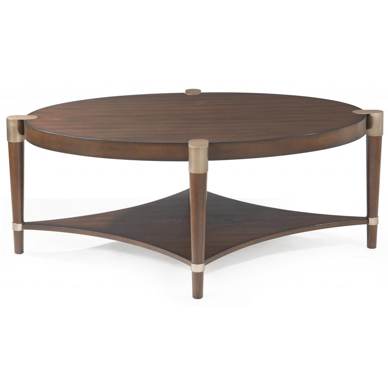 Bassett Mirror Thoroughly ModernCole Oval Cocktail Table