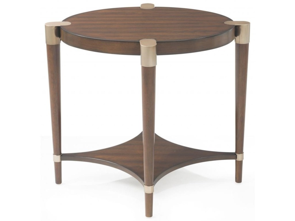 Bassett Mirror Thoroughly ModernCole Oval End Table