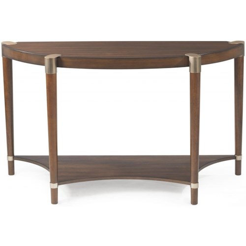 Bassett Mirror Thoroughly Modern Cole Demilume Console Table with Gold Accents