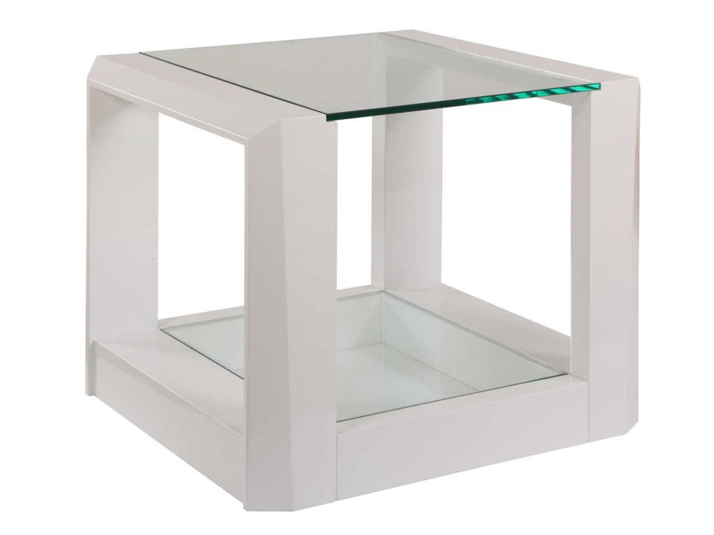 Bassett Mirror Thoroughly ModernCristobal Rectangle End Table