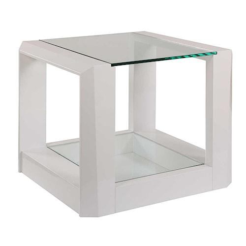 Bassett Mirror Thoroughly Modern Cristobal Rectangle End Table
