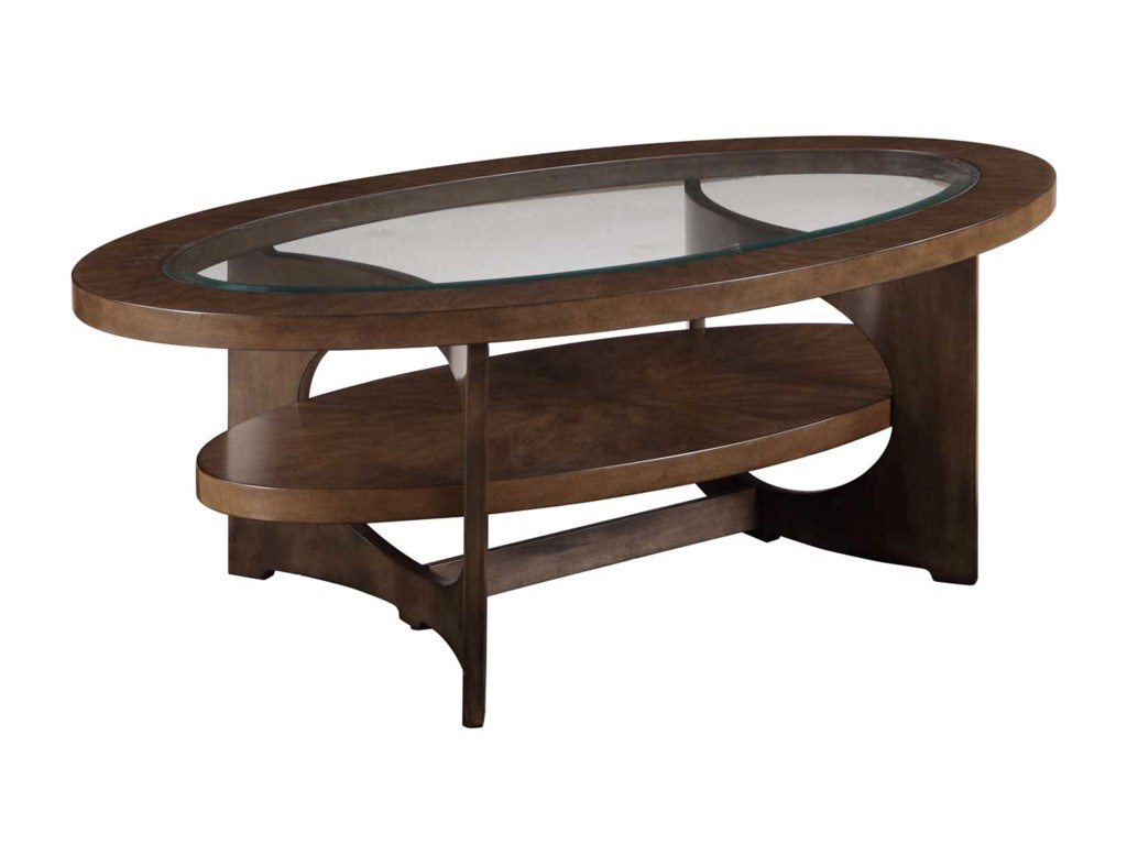 Bassett Mirror Thoroughly ModernAlford Oval Cocktail Table