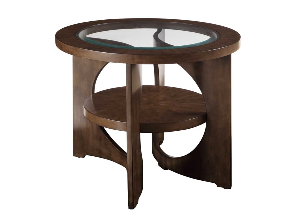 Bassett Mirror Thoroughly ModernAlford Round End Table