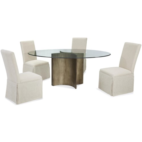 Bassett Mirror Thoroughly Modern Symmetry Casual Dining Set