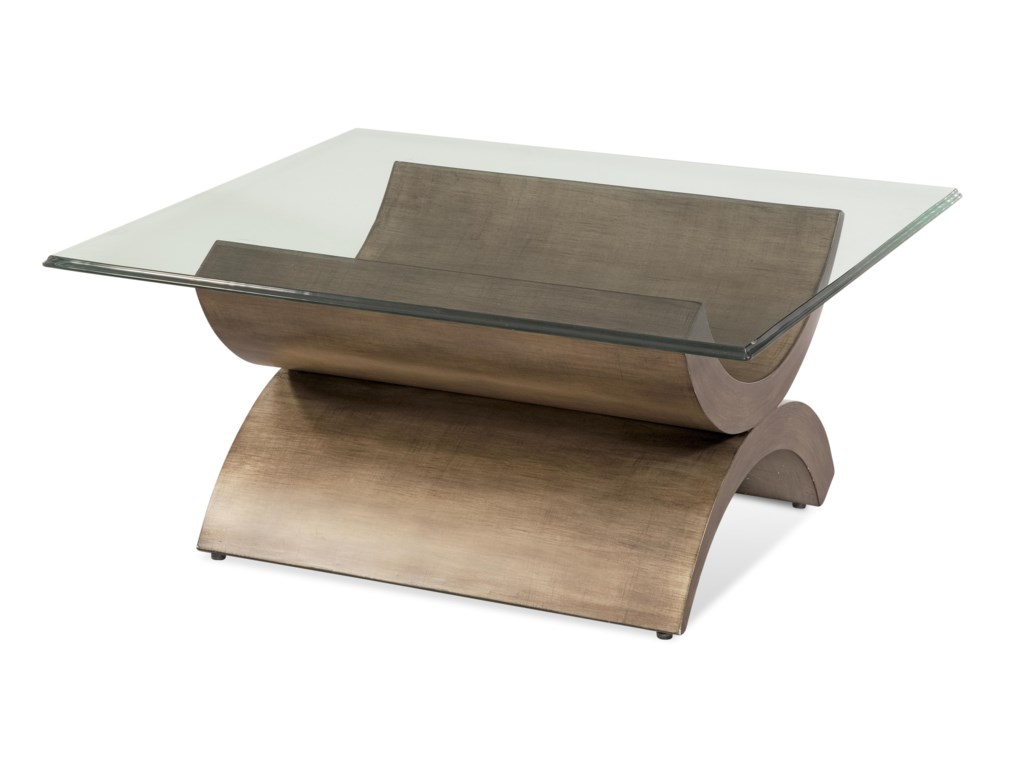 Bassett Mirror Thoroughly ModernSymmetry Square Cocktail Table