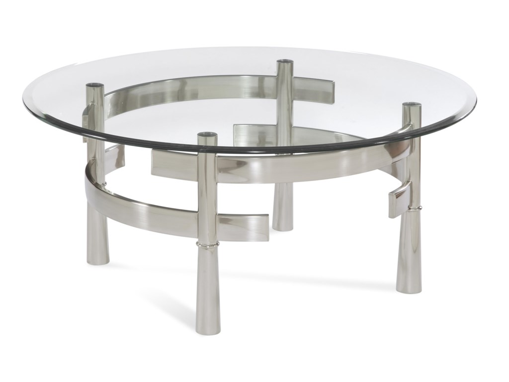 Bassett Mirror Thoroughly ModernContour Round Cocktail Table