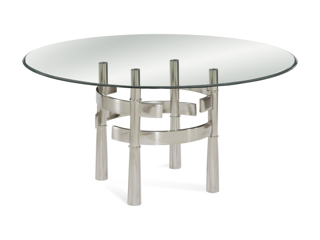 Bassett Mirror Thoroughly ModernContour Round Dining Table