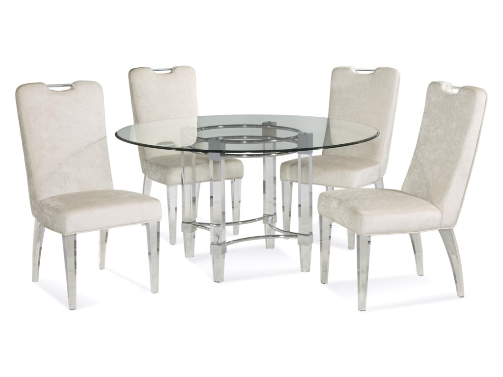 Bassett Mirror Thoroughly ModernCristal Casual Dining Set