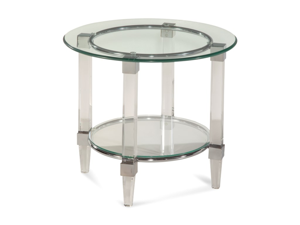 Bassett Mirror Thoroughly ModernCristal Round End Table