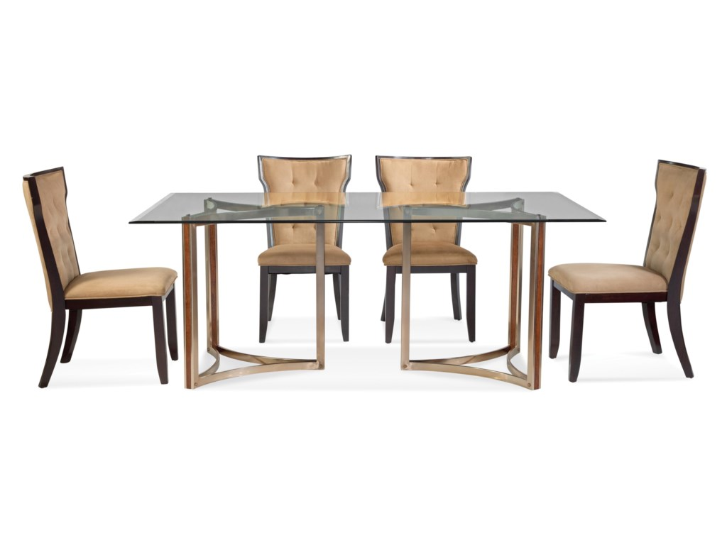 Bassett Mirror Thoroughly ModernCornell Casual Dining Set
