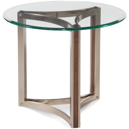 Bassett Mirror Thoroughly Modern Cornell Round End Table