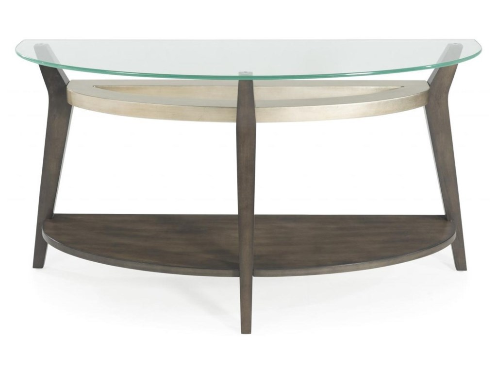Bassett Mirror Thoroughly ModernElston Demilune Console Table