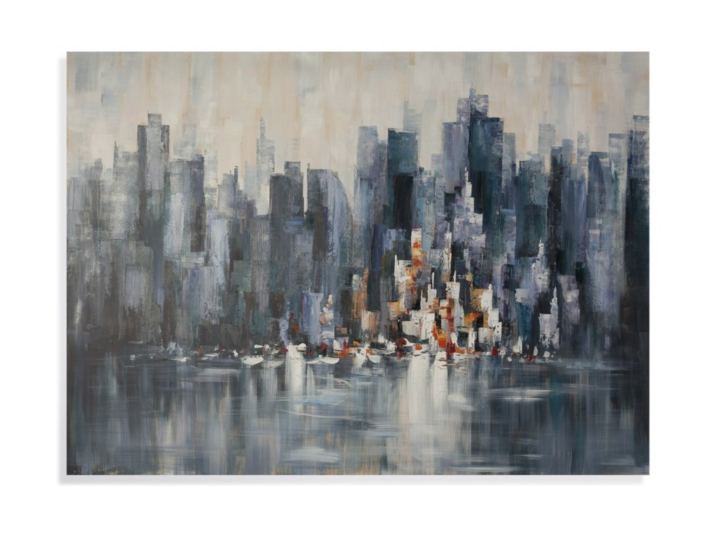 Bassett Mirror Thoroughly ModernCity Skyline Wall Art
