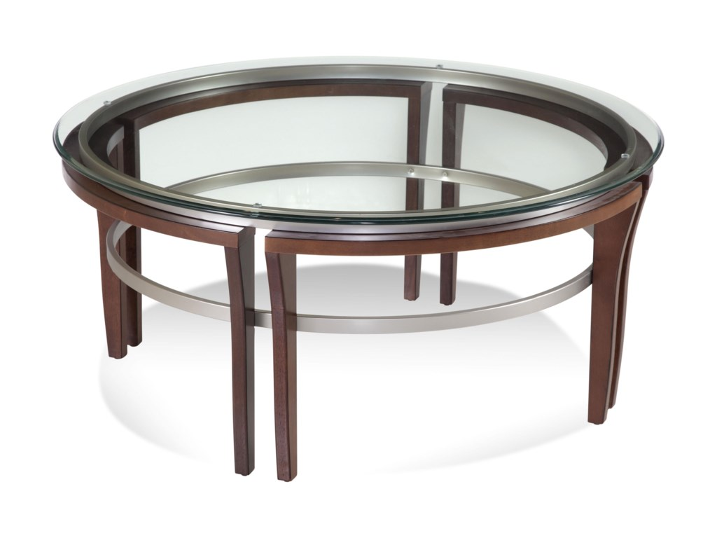 Bassett Mirror Thoroughly ModernFusion Round Cocktail Table