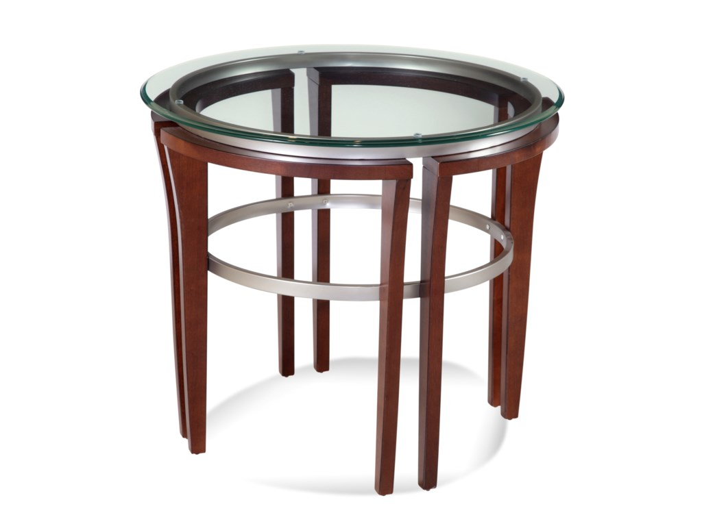 Bassett Mirror Thoroughly ModernFusion Round End Table
