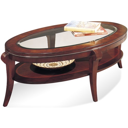 Bassett Mirror Thoroughly Modern Ashland Heights Oval Cocktail Table