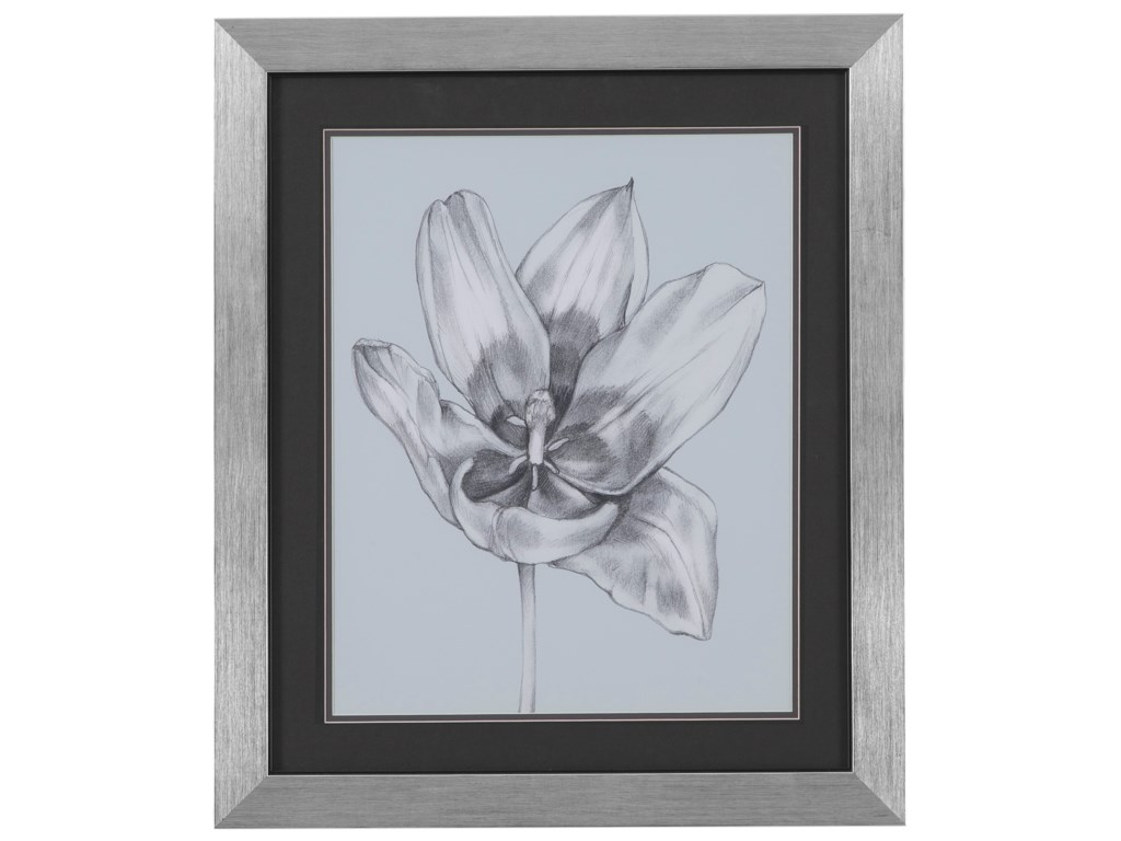 Bassett Mirror Thoroughly ModernSilvery Blue Tulips II