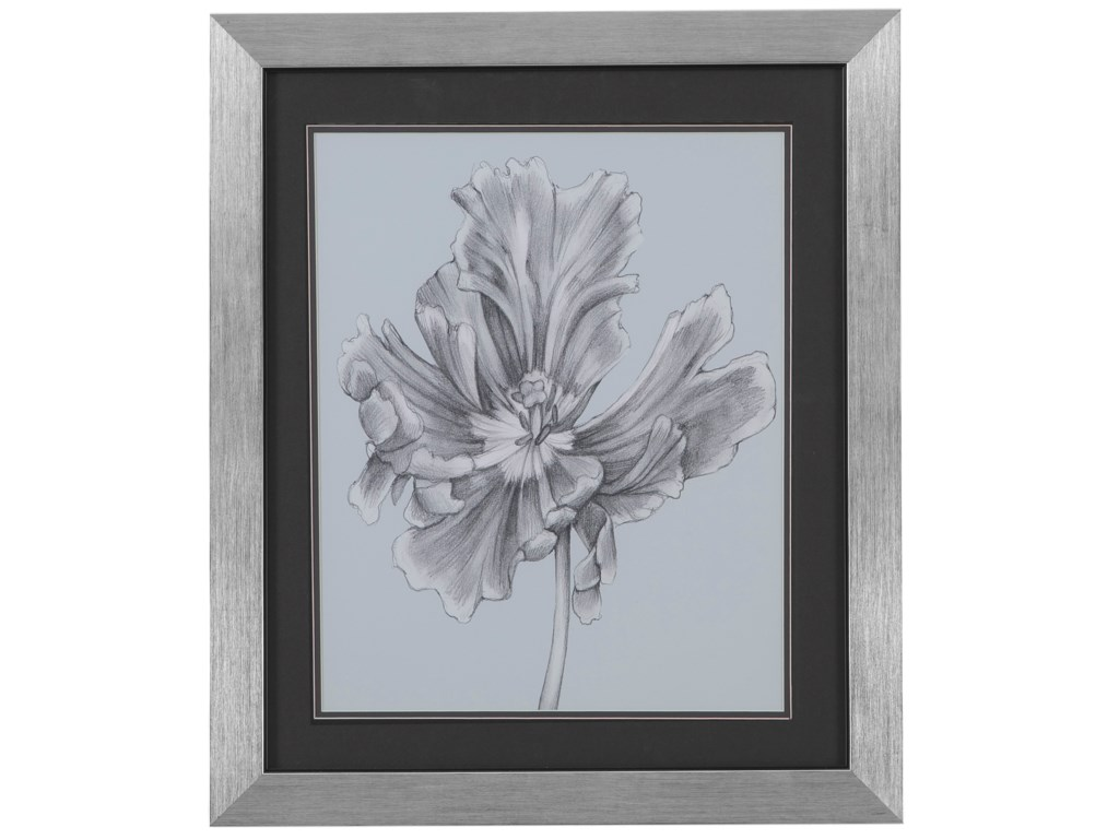 Bassett Mirror Thoroughly ModernSilvery Blue Tulips III