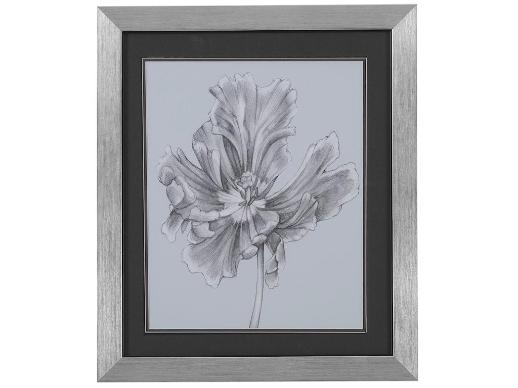 Bassett Mirror Thoroughly ModernSilvery Blue Tulips III