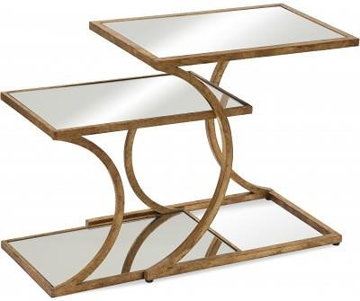 Bassett Mirror Thoroughly Modern Clement Nesting Accent Tables w/ Mirror Tops