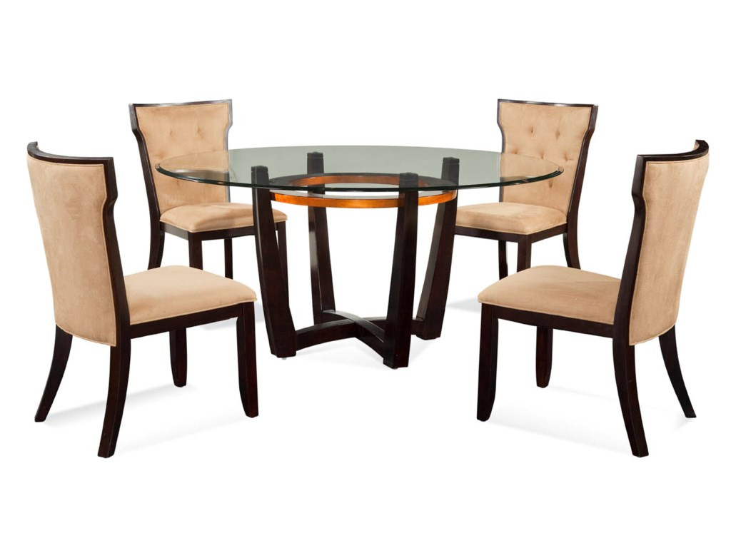 Bassett Mirror Thoroughly ModernElation Casual 5 PC Dining Set