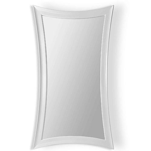 Bassett Mirror Thoroughly Modern Pearl Hourglass Leaner Mirror