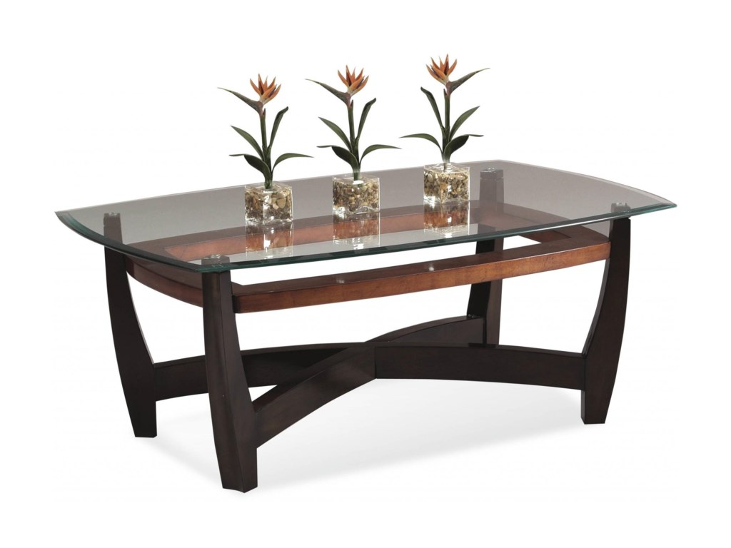 Bassett Mirror Thoroughly ModernElation Rectangle Cocktail Table